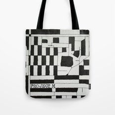 Black & White Map Tote Bag