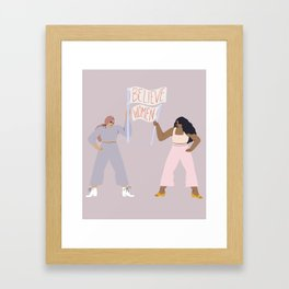 the gentle reminder Framed Art Print