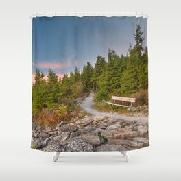 Spruce Knob Twilight Trail Shower Curtain