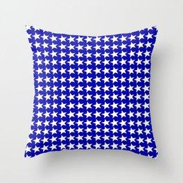 Blue White Stars Design Throw Pillow