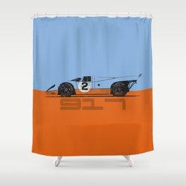 Vintage Le Mans race car livery design - 917 Shower Curtain