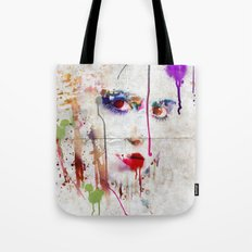 Drip face Tote Bag