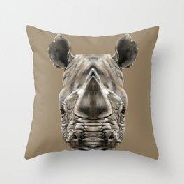 Rhino Sym Throw Pillow