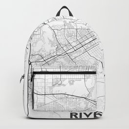 Minimal City Maps - Map Of Riverside, California, United States Backpack