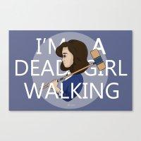 heathers Canvas Prints featuring Dead Girl Walking by roarie_