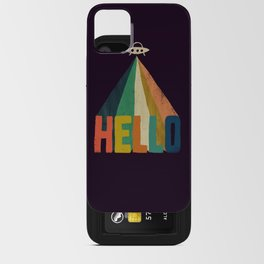 Hello I come in peace iPhone Card Case