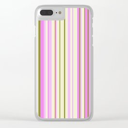 Stripe obsession color mode #9 Clear iPhone Case