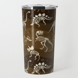 Fossil Dinosaur Pattern Travel Mug