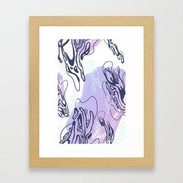 Marble Breeze Framed Art Print