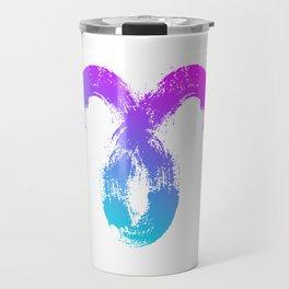 Brush abstract zodiac sign Aries Travel Mug