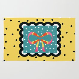 Sunny Yellow and Black Gift Rug
