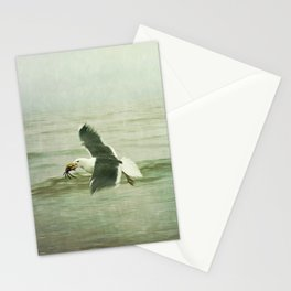 Seagull and Crab Stationery Cards