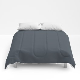 Dunn & Edwards 2019 Trending Colors Deepest Sea Grayish Blue DE5825 Solid Color Comforters