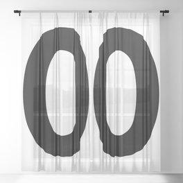 Number 0 (Black & White) Sheer Curtain
