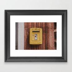 Postes Framed Art Print
