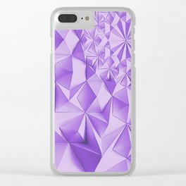 Purple fractals, geometric figures pattern, violet triangles, diamonds, rhombus, asymetric bricks Clear iPhone Case