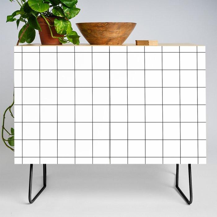 White Grid  /// pencilmeinstationery.com Credenza