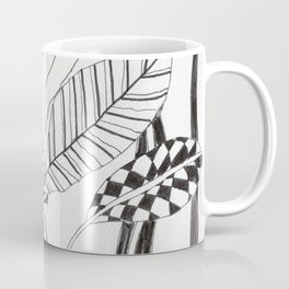 Patterned leaves revisited -line drawing plants Coffee Mug