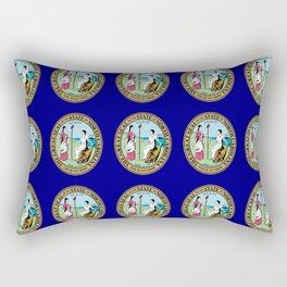 seal of north carolina-america,usa,Old North State,Tar Heel, North Carolinian,Charlotte,Raleigh, Rectangular Pillow