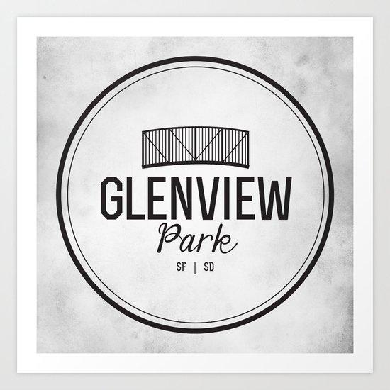 Glenview Park Art Print