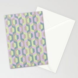 Pastel Two Tone Hexagon Stationery Cards