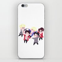 shinee iPhone & iPod Skins featuring Shining SHINee by sophillustration