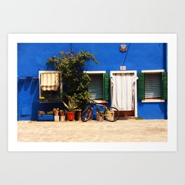 Burano Houses Art Print