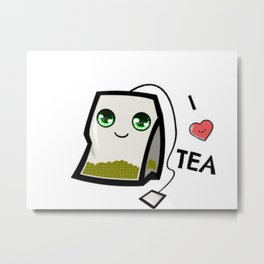 I Luv Tea Metal Print