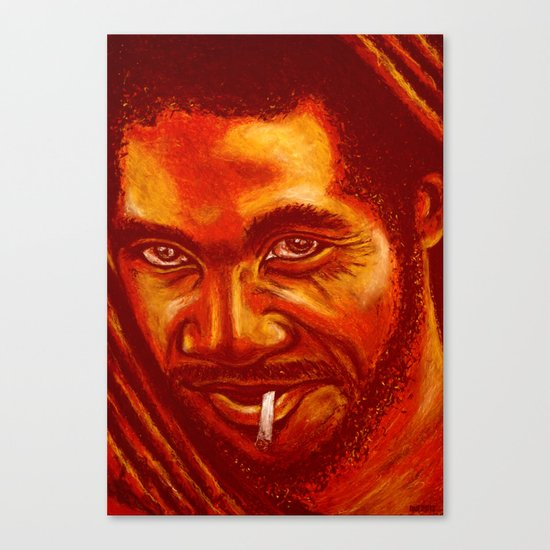 up in smoke! Canvas Print