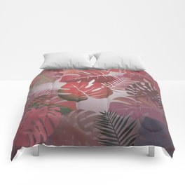Tropical Autumn Leaves Comforters