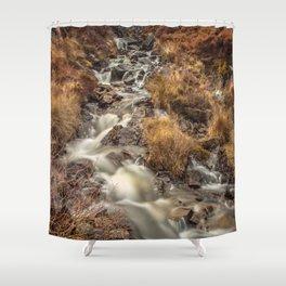 Golden Falls Shower Curtain
