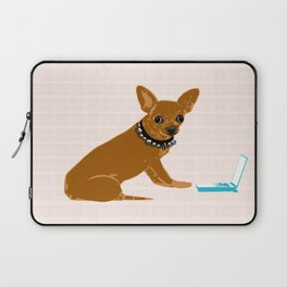 chihuahua dog as an IT technician Laptop Sleeve
