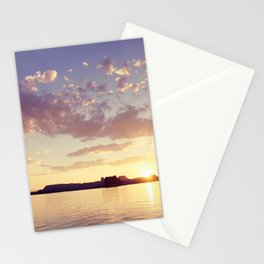Sunset at the Lake Stationery Cards