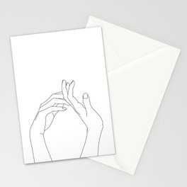 Hands line drawing illustration - Abi Stationery Cards