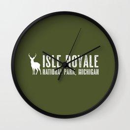 Isle Royale Deer Wall Clock