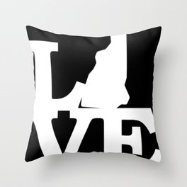 New Hampshire Pride USA State Love Map Throw Pillow