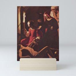 Georges de La Tour - Saint Sebastian tended by Saint Irene Mini Art Print