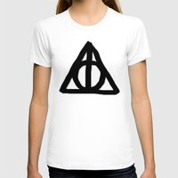 deathly hallows T-shirts featuring Deathly Hallows on Parchment by Hannah Ison