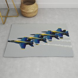 Navy's Blue Angels Airplanes in Formation Flight Rug