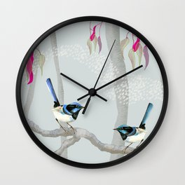 Blue Wren Australian Birds Wall Clock