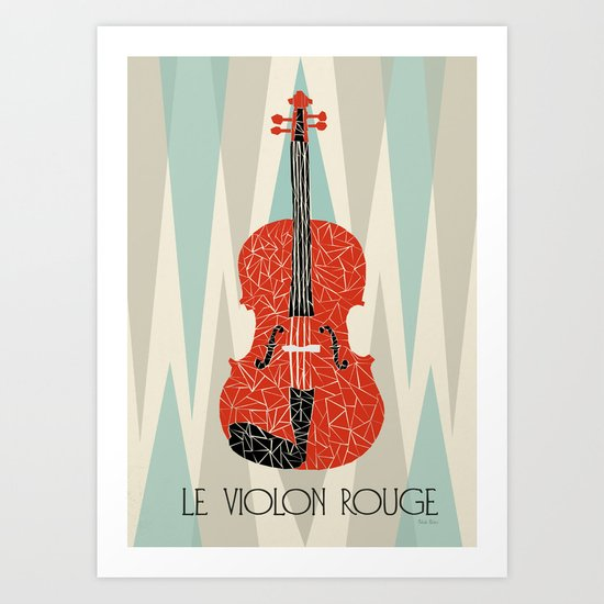 The Red Violin Art Print