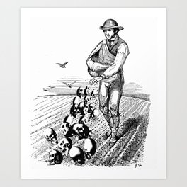 Sowing Fear Art Print