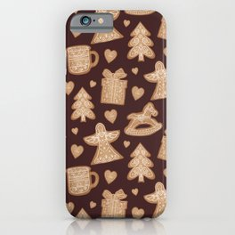 Ginger christmas cookie iPhone Case