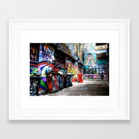 melbourne Framed Art Prints featuring Melbourne by Taurin Eimermacher