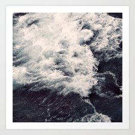 ANGRY OCEAN Art Print
