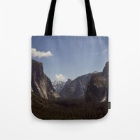 yosemite Tote Bags featuring Yosemite by Jeff Harmon Photography