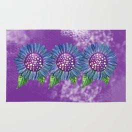 Blue Flower Rug