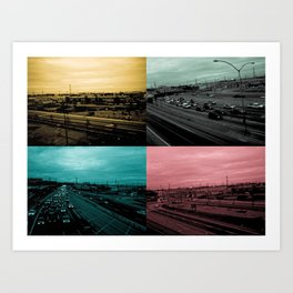 Riding on the metro, color Art Print