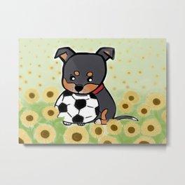 Charlie pup, Black Terrier pup Metal Print