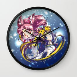 Super Sailor Moon & Chibi Moon (edit 1/A) Wall Clock